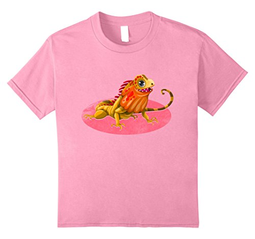 [Kids Cute Emoji Iguana Lovers T shirt Wildlife Spirit Animal Tee 8 Pink] (Hilarious Costumes Ideas)