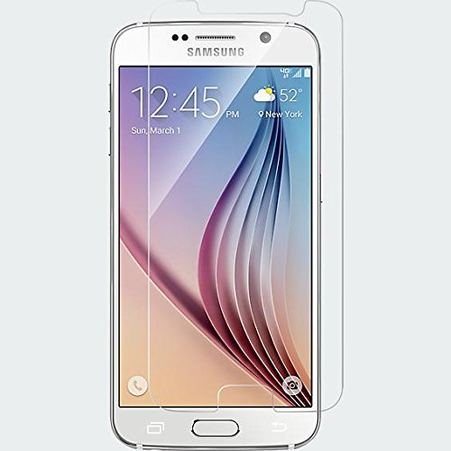 KORAMZI TEMPERED GLASS Premium Screen Protector For Samsung Galaxy S6 HD Clear 2.5D Curved Edge Anti Fingerprint (Perfectly (Guardians Of The Galaxy For Sale)