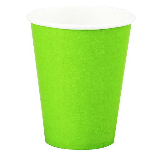 Bright Lime Green Paper Cups