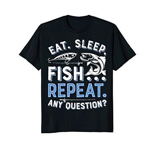 Eat Sleep Fish Repeat T shirt Men Women Kids Fishing Boys