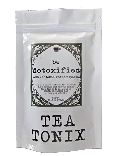 BE DETOXIFIED Teatox Cleansing Tea with Sarsaparilla, Dandelion, and Senna 60g – a Caffeine Free Detox Tea to Help Cleanse and Detox the Body Assisting with Weight Loss Goals by Tea Tonix