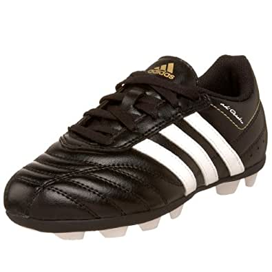 adidas Little Kid/Big Kid adiQuestra HG Soccer Cleat,Black/White/Gold,3.5 M US Big Kid