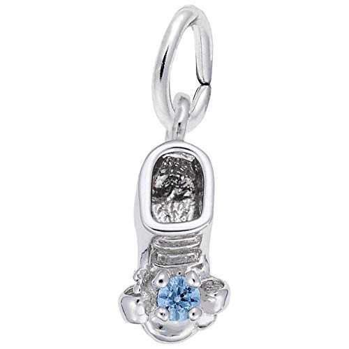 Rembrandt Charms, December Baby Bootie.925 Sterling Silver ()