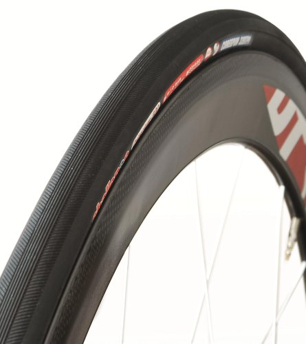 Bike Open Tubular Clincher Tire - Challenge Criterium Road Open Tubular (Clincher) Tire (Black/Black, 23-mm)