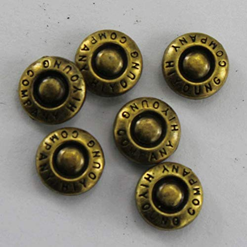 Garment Rivet - (1000 pcs/lot) Customized Electroplating Copper Metal Rivets with Embossed Logo Brand Name for Jackets and Jeans Buttons - (Color: As Customized)