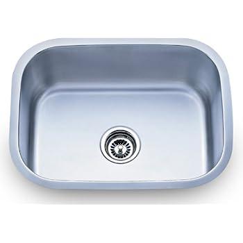 Dowell Undermount Single Bowl 18 Gauge Kitchen Stainless Steel Sinks (6001  2317)
