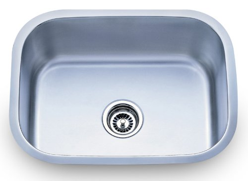 Dowell Undermount Single Bowl 18 Gauge Kitchen Stainless Steel Sinks 6001 2317