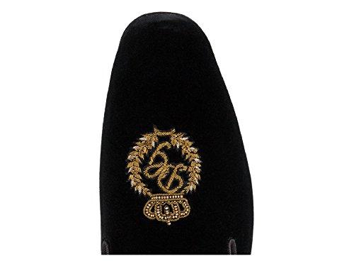 Dolce E Gabbana Degli Uomini A80055am6838b956 Sandali Di Velluto Nero