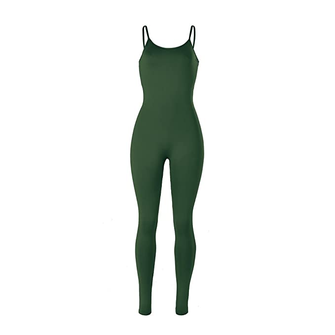 b109a3216f5f Xuan2Xuan3 Women Spaghetti Strap Bodycon Tank One Piece Jumpsuits Rompers  Playsuit
