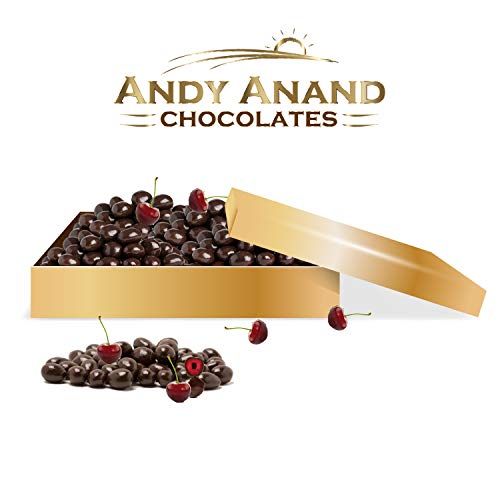 Andy Anand's Chocolates - Premium California Cherries covered with Rich Dark Chocolate in Gift Box, All Natural and Certified made from Natural Ingredients – 1 LBS ()