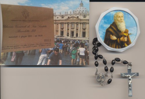 St Saint Benedict Rosary w/Case Truly Blessed by Pope Benedict XVI on 6/1/2011