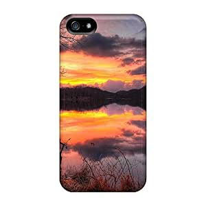 phone covers Case Cover Glorious Sunset Reflection On A Lake Hdr iPhone 5c Protective Case