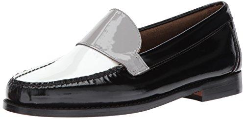 G.H. Bass & Co. Women's Wylie Loafer Flat, Black, 6 B (M) US