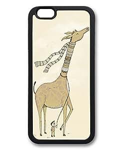 DaojieTM Generic Scarf for Giraffe Designs Case for Iphone 6 Plus 5.5inch Hard Plastic Shell