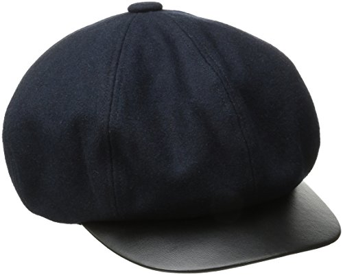 Goorin Bros. Women's Ayu Miss Eight-Panel Cabbie Hat with Faux Leather Brim