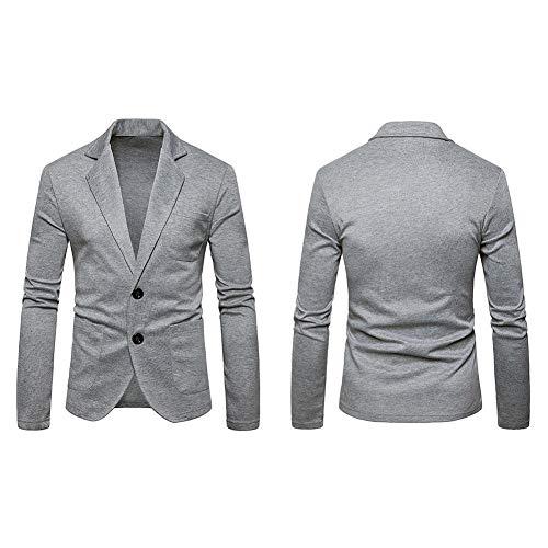 Grau Fit Slim D'extérieur Blazer Boutons Manteau Printemps Veste Deux Essentiel Vêtements Business Costume Casual Automne Formal aZ1q0UqR