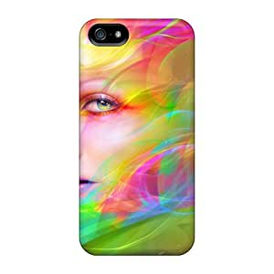(eWJ30649Jrtm)durable Protection Cases Covers For Iphone 5/5s(rainbow Lady)