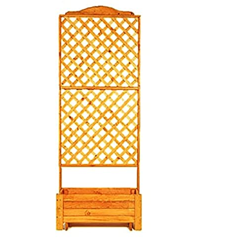 Amazon.de: Rankkasten Holz 80x210x38 cm mit Pflanzkübel Rankhilfe ...