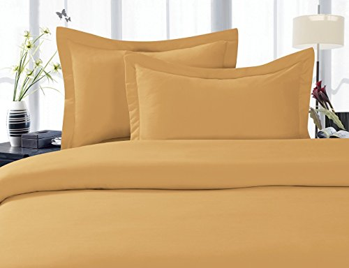 Elegance Linen 1500 Thread Count Egyptian Quality Super Soft Wrinkle Free 4 pc Sheet Set, Deep Pocket - All Size and Colors , Full Gold