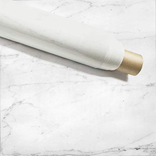 """Instant Granite Italian White Marble Counter Top Film 36"""" x 144"""" Self Adhesive Vinyl Laminate Counter Top Contact Paper Faux Peel and Stick Self Application"""