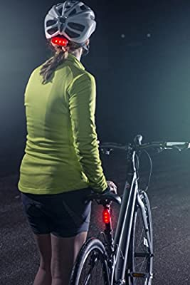 Super Bright Bike Tail Light Works Brilliantly as Running Light for Joggers by Apace EverLightFX USB Rechargeable LED Safety Light Bicycle Strobe or Rear Clip On Lights Pets 2 Pack