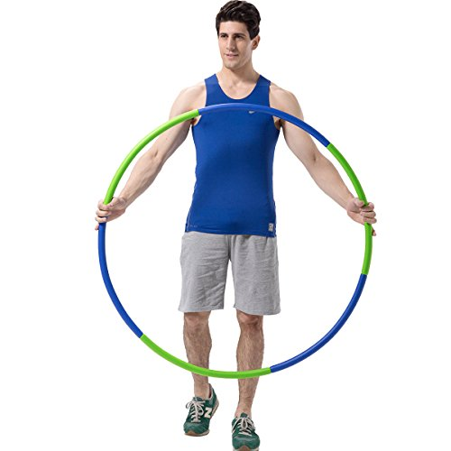 Mike Sport Weighted Hula Hoop 3lb for Adults for Exercise, Fitness, Fat Burning, and Lose Weight