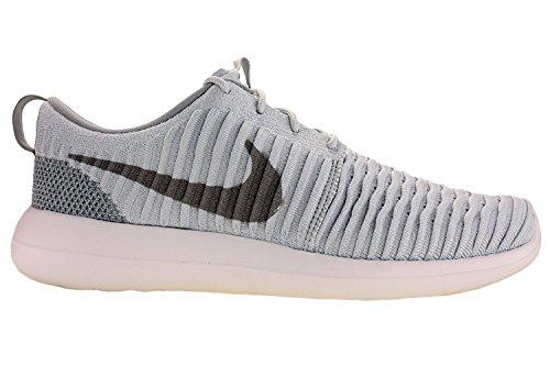 Nike Mens Roshe Two Vliegend Loopschoenen Puur Platina / Wolf Grijs / Wit