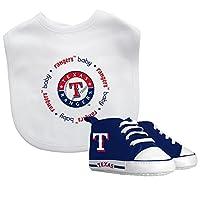 Baby Fanatic MLB Velcro-Closure Bib and High-Top Pre-Walker Set, Texas Ranger...