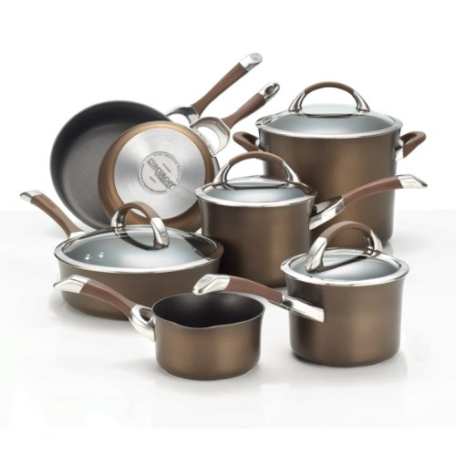 Circulon Symmetry Chocolate Hard Anodized Nonstick 11-Piece Cookware Set (Chocolate Pans compare prices)