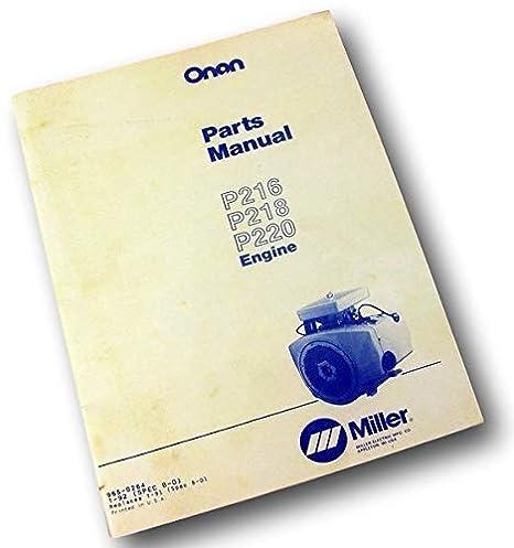 Onan P216 P218 P220 P224 Engine Parts Manual Catalog ... Onan P Wiring Diagram on