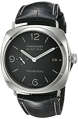 Panerai Men's PAM00388 Radiomir Stainless Steel Watch with Black Leather Band