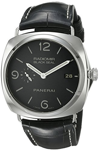 (Panerai Men's PAM00388 Radiomir Stainless Steel Watch with Black Leather Band)