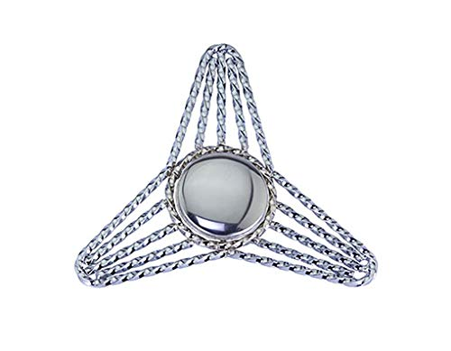 (Lowrider Chrome Triangle Twisted Knock-Off Threadless. Bike Part for Cruiser, BMX, Trike, Bicycle Parts)