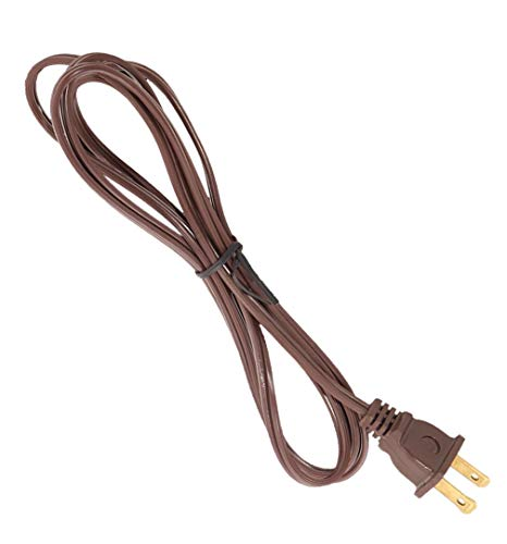 B&P Lamp Brown, 18/2 Plastic Covered Lamp Cord Sets (12 ft. SPT-1)