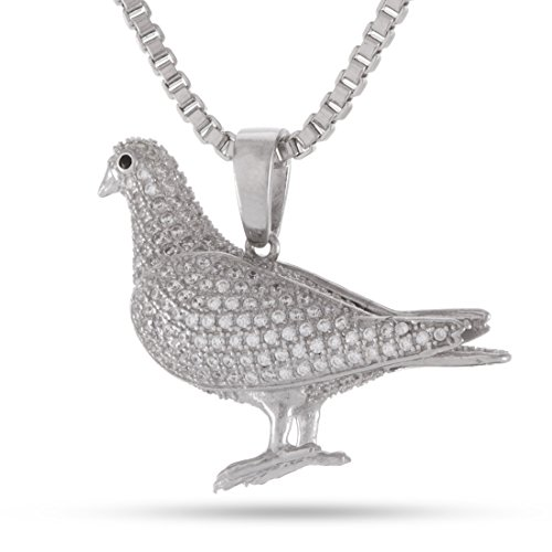 King Ice x Staple Pigeon Iced Out Pendant (Silver-Tone Plated) by King Ice