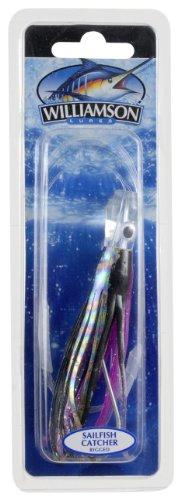 Williamson Sailfish Catcher Rigged Lure, 4-Inch, Black Purple