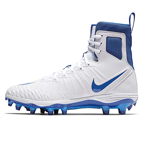 Nike Men's Force Savage Varsity Football Cleats (12, White/Game Royal/Photo Blue)