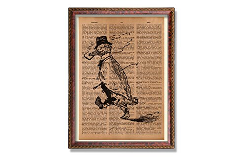 Antique gentleman duck print Dictionary art print Dictionary page Bird poster Animal decor Steampunk print Upcycled Vintage Dictionary Paper -