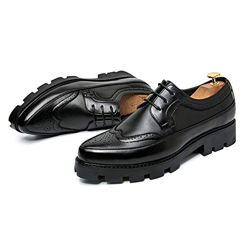 Uomo Nero Cricket Colorate da Brogue da Appuntita Scarpe Scarpe a Oxford da Casual Uomo Impermeabili Punta BPqwUZpx