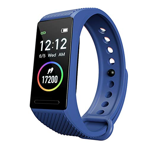 EKUPUZ TD18 Fitness Tracker IP67 Swimming Waterproof, Heart Rate Monitor Fitness Watch Sport Digital Smart Bracelet with Color Screen Step Counter Sleep Tracker Smart Watch for Men Women Kids