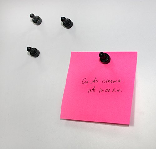 USKYMAG 24 Solid Magnetic Push Pins, Pawn Style--Perfect and Powerful Magnetic Pushpins for Fridges, Maps, Whiteboards, Cabinets (black) Photo #5