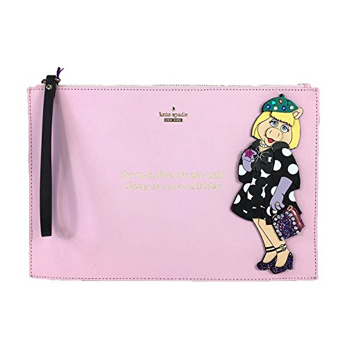 Kate Spade Disney Miss Piggy 'Fancy Friday' Britta Wristlet, Cherry Blossom