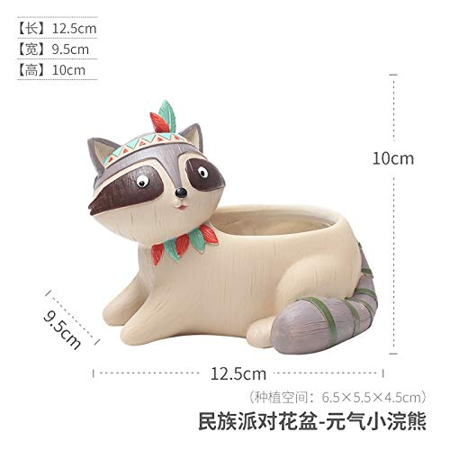 - Snail Planter - Best Quality - Flower Pots & Planters - Cute Cartoon Animal Flowerpot Resin Succulent Plant Vase Fox Elephant Deer Bear Rabbit Planter Pot Home Decor Craft Bonsai Pot - 1 PCs