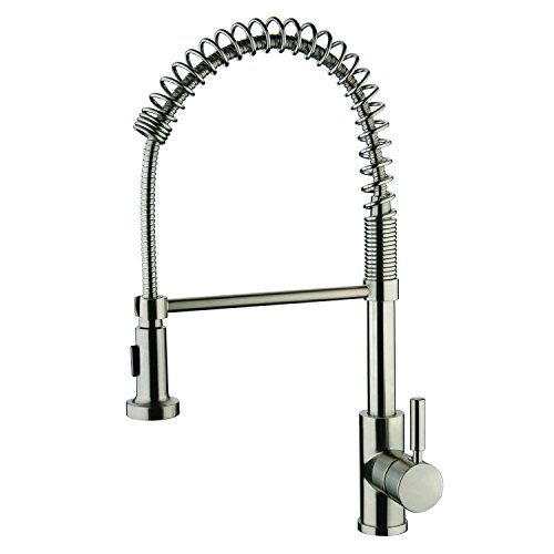 Y Decor YP2814A-BN Foreman Single Handle Kitchen Faucet, Brushed Nickel, 10