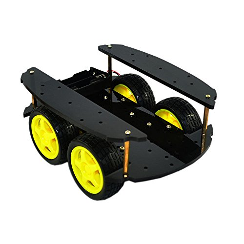 4WD Four Wheel Drive Robot Chassis Smart Car for Arduino DIY Car Kit by Aigh Auality shop