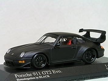 Minichamps 1/43 Porsche 911 (993) GT2 EVO. Homologation in BLACK Porsche