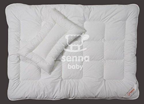 100x135 Babydecke Bettdecke Steppbettdecke mit dem Kopfkissen 40x60 für Babys Baby Kinder 45% Baumwolle Füllung HCS - Faser Super Qualität antiallergisch für Allergiker Öko-Tex Standard 100