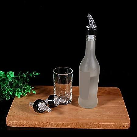 Gorgeri Vertedor de botella, 30 ml de medida de licor Botella de licor Vertedor Bebida de medición Dispensador de vino Plástico(Blanco)