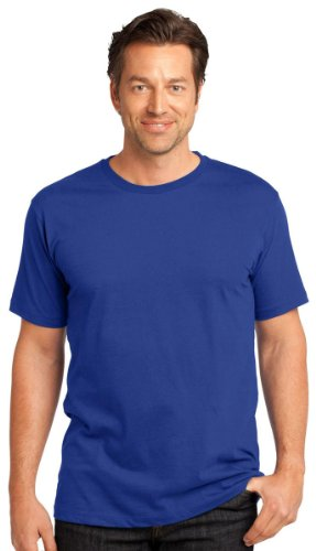 Perfect Weight Crew Neck Tee - District Threads Men's Perfect Weight Crewneck T-Shirt_Deep Royal_X-Large