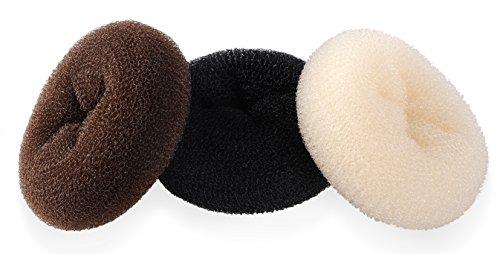 ClothoBeauty 2 pieces Extra Large Size Hair Bun Donut Maker, Ring Style Bun, Women Chignon Donut Buns Doughnut Shaper Hair Bun maker